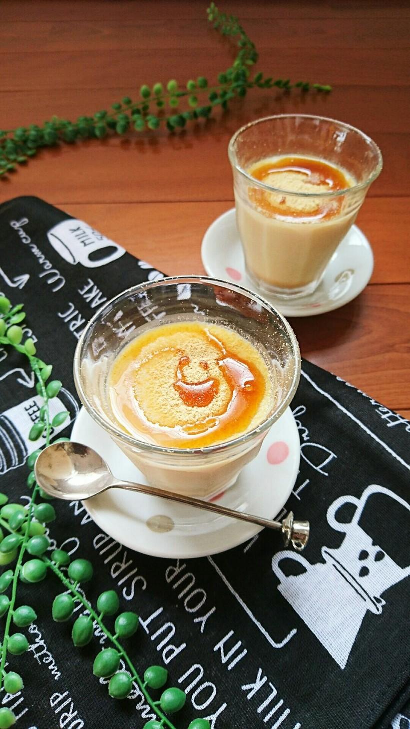 レンジで簡単☆甘酒豆乳きな粉プリン。