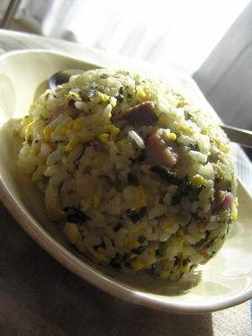 チャーハン風大根葉飯~炊飯器で混ぜご飯