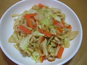 野菜たっぷり味噌焼きうどん