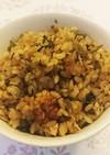 ゴマ高菜とツナの炊き込みご飯
