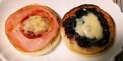 マフィンでピザ風、デニッシュ風の写真