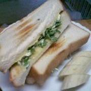 水菜でさっぱりトースト♪の写真
