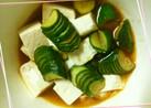 豆腐ときゅうりの中華風:辛々漬け