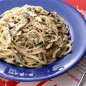 チキンと青じそのスパゲティ