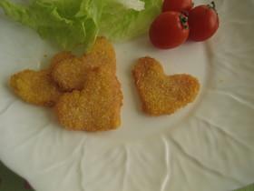 ❤ ハート ハムカツ❤ お弁当のおかず