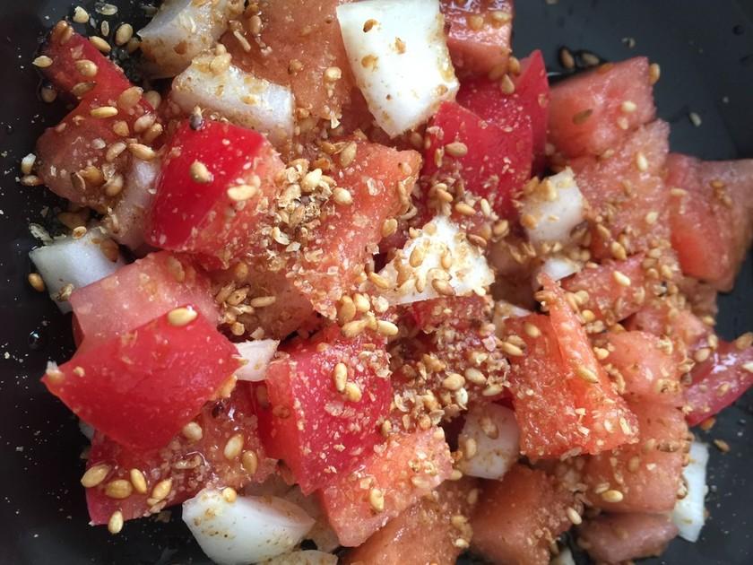 甘くないスイカの食べ方 西瓜トマトサラダ