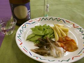 つる豆の昆布締め 季節のお刺身添え