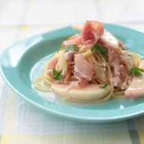 桃と生ハムの冷製スパゲッティー