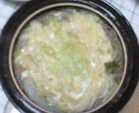 ひき肉白菜うどん鍋