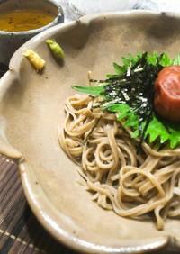 さっぱりつるん冷凍蕎麦で簡単ぶっかけ蕎麦