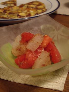 トマトと大根のおかかサラダ