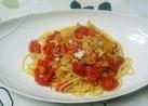 簡単美味!ミニトマト玉葱シーチキンパスタ