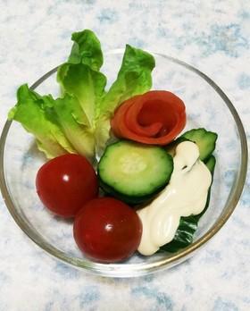 スモークサーモンで基本の薔薇のサラダ☆