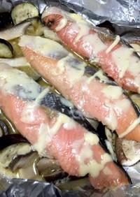 フライパン汚れない♫鮭チーズマヨホイル蒸
