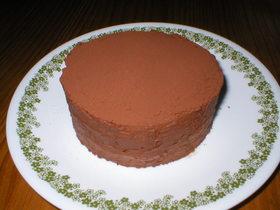 チョココロネクリームでチョコバナナケーキ