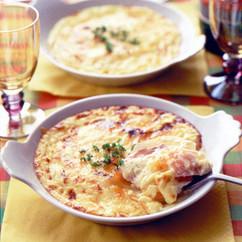 鮭とポテトのチーズグラタン