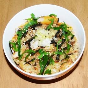 鯵の干物 (アジのひらき) 炊込みご飯