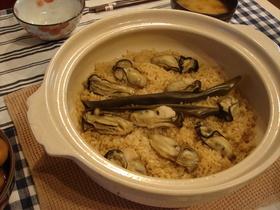 美味!牡蠣の土鍋ごはん