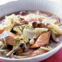 鮭+白菜+しめじの煮もの