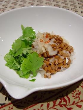 納豆のアジアン風