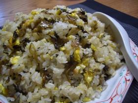 簡単美味しい 辛子高菜漬けとジャコの炒飯