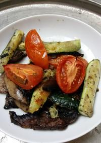 常備菜に野菜とキノコのハーブベイク