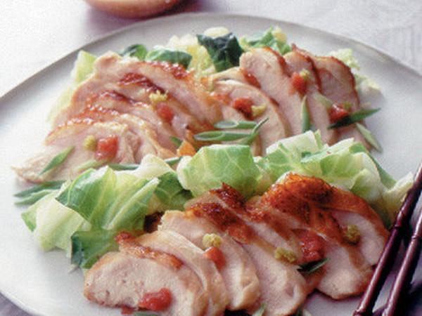 鶏肉とキャベツの梅ドレッシング