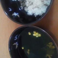 めんつゆご飯とめんつゆワカメコーンスープ
