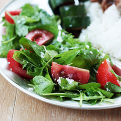 ベビーリーフとトマトのサラダ