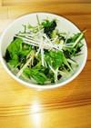 節約つまみ☺水菜&ワカメ♡スタミナサラダ