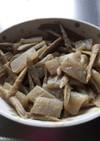 ごぼうとこんにゃくのニンニク味噌炒め