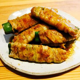焼肉のタレで☆簡単ナタマメの肉巻き