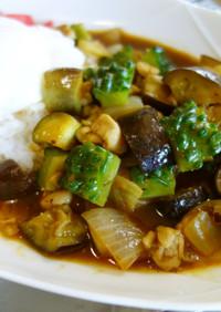 フライパンで10分!夏野菜カレー