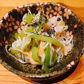 鹿児島の野菜☆といもがらの酢の物