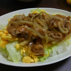 ガッツリ豚丼!