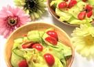 リボンキュウリとレタスのサラダ