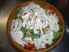 こく旨!鶏ささみと冬野菜のサラダ。