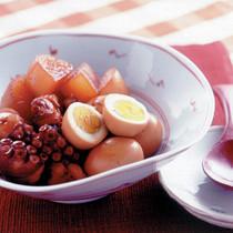 たこ+ゆで卵+大根の煮もの