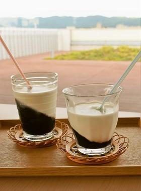 ぷるぷる寒天ドリンク黒みつコーヒー牛乳