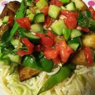 簡単♪新じゃがと夏野菜のパスタサラダ