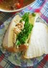 豚しゃぶと水菜のサンドイッチ