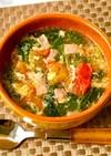 モロヘイヤとトマトと卵の☆中華スープ
