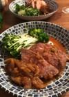 塊肉の豚肩ロース生姜焼