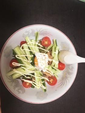 サラダに見えるけど野菜たっぷり豚しゃぶ