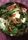 豆苗と豆腐のキムチサラダ