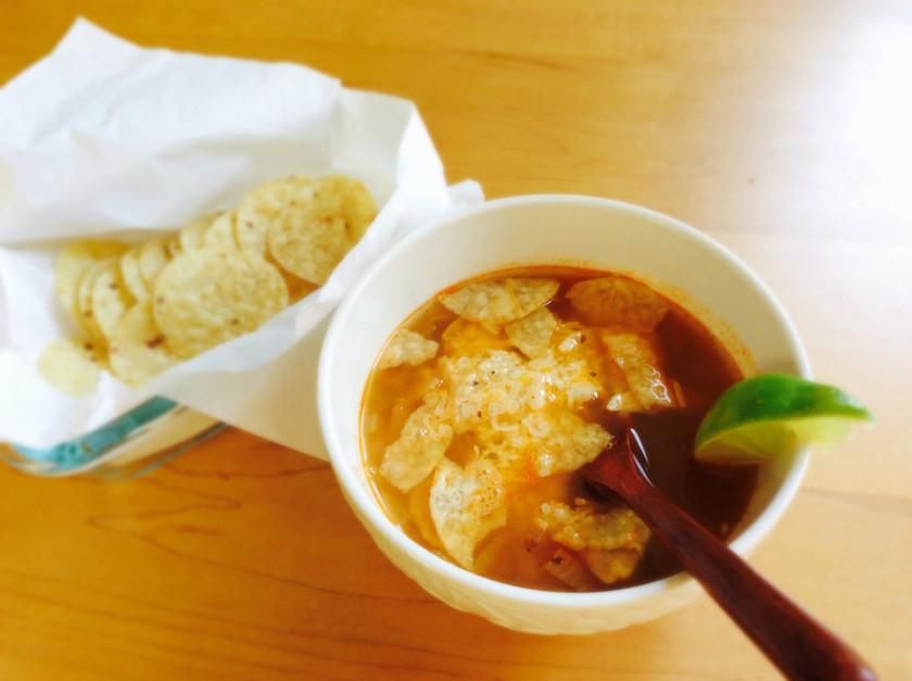 サラダチキンでメキシカンスープ