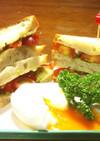 美味しいミニトマトのサンドイッチ