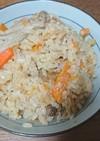 鶏肉とゴボウと人参としめじの炊き込みご飯