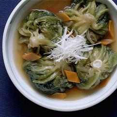 サラダ菜ボールのスープ煮