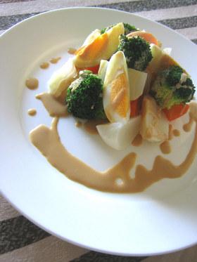 温野菜✿ฺレモンピーナツソース